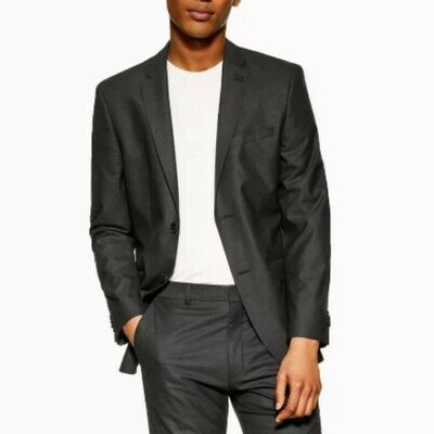 Topman Grey Skinny Fit Single Breasted Blazer Size 42L NWOT $395 ea13