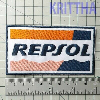 "4.00""x1 pc. repsol racing oils fuel formula  embroidered iron on sew patches"