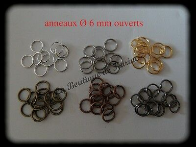 Lot 200 Connection Rings Open Ø 6 mm Metal 6 Colors - Pearl Jewelry