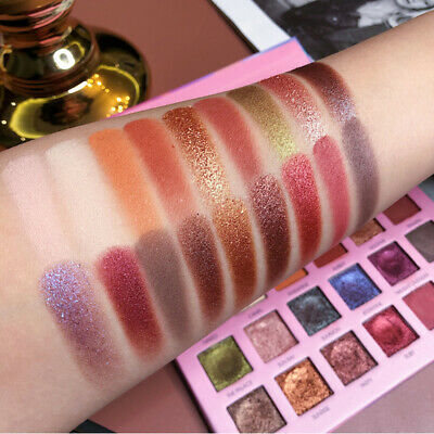 Magic Matte Pearlescent Glitter Eye Shadow 18Colors Pigment Eye Shadow Palette.