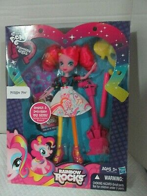 "My Little Pony Equestria Girls Rainbow Rocks 9"" Pinkie Pie With Guitar New"