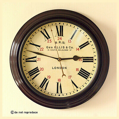 "British Railway BR Station School Wall Clock replica 12""dia high quality retro"