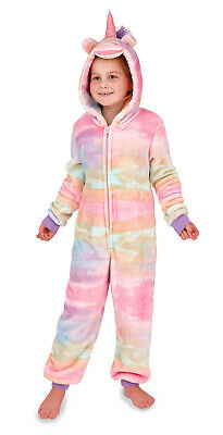 Girls Rainbow Unicorn 1Onesie All In One Kids Dress Up Costume Onezee Jumpsuit