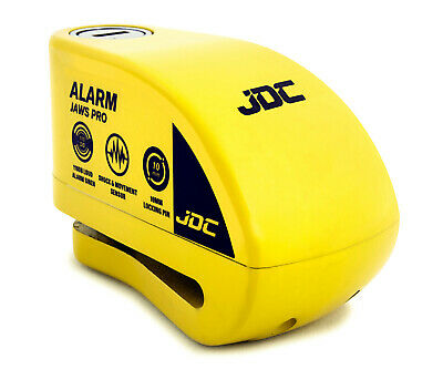 JDC Motorcycle Motorbike Waterproof Heavy Duty Disc Lock ALARM Ø10 Pin JAWS PRO