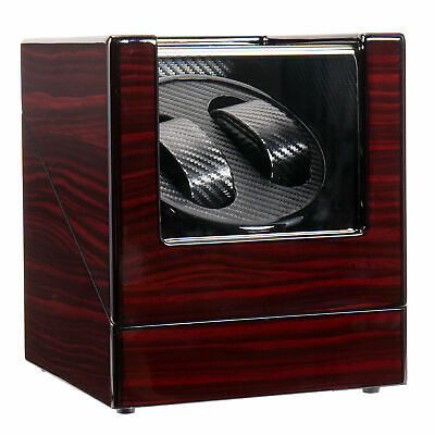 Beauty Double Watch Winder Automatic Rotation Display Case Storage Organizer Box