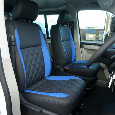 50/% OFF  RRP VW TRANSPORTER T5  CUSTOM MADE  LEATHERETTE SEAT COVERS WITH AR