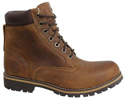 Timberland AF Rugged 6 Inch Waterproof Brown Leather Mens Boots 74134 B85C