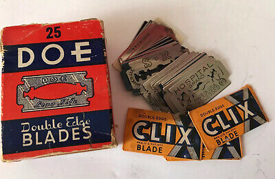 Vintage Safety Razor Double Edged Razor Mixed Lot of 40 Gillette Sears Schaeffer