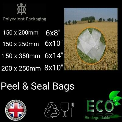 Self Seal Sandwich Peel And Seal Biodegradable Food Bags, Not Cellophane Bakery