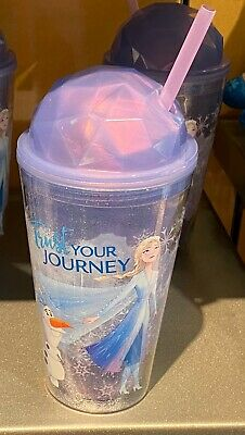 Disney Parks Frozen Trust Your Journey Sipper Cup with Straw NEW