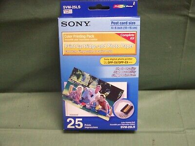 Sony SVM-25LS Print Cartridge And Photo Paper With 25 Prints Brand New In Box