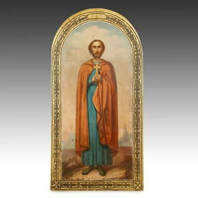 Russian Icon St Florian Orthodox Christianity Painted Wood Panel Russia