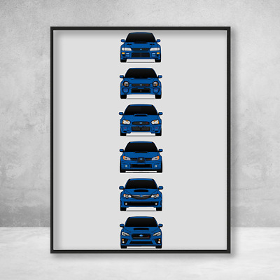 Poster of Subaru WRX STi Giant HD Huge 54x36 Inch Print 137x91 cm