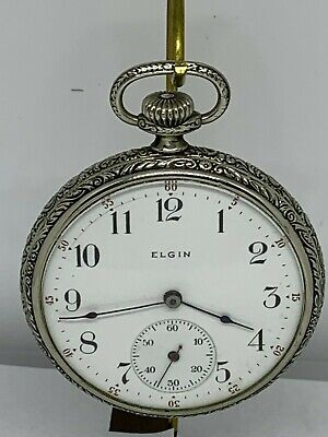Elgin 16s 7 Jewel Grade 291  circa 1905 pocket watch running