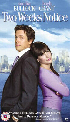 Two Weeks Notice 2003 Sandra Bullock Hugh Grant Romance Comedy DVD PAL R2 New
