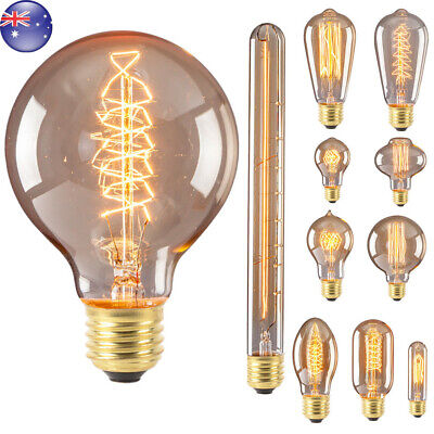 E27 40W Edison Filament Bulb Light Retro Vintage Screw Globe Lamp Home Decor