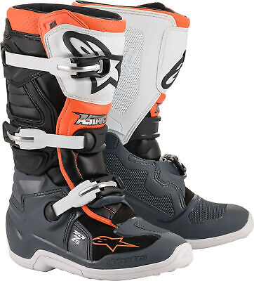 Alpinestars 2019 Tech 7S Youth Boots Black/Grey/Yellow 3