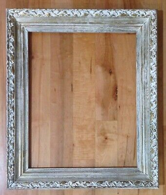 """Vintage Ornate Wooden Picture Frame Antique White & Gold Shabby Chic 25"""" x 21"""""""