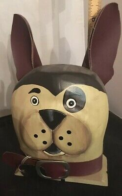 Folky Wooden Painted French Bulldog