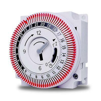 Mechanical 24 Hours Timer Switch Industrial Timing Device Switch With Protector