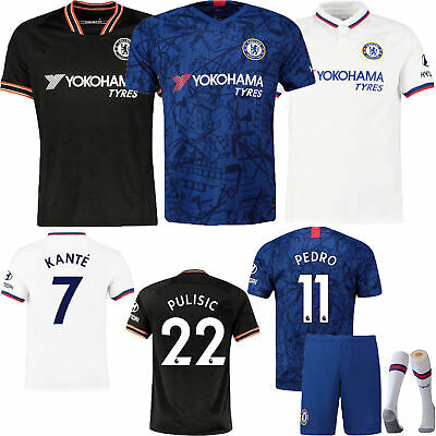 19/20 Football Club Kids/Adults Home Away Kits Soccer Jersey Strip Suits+Socks