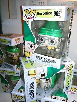 Funko Pop *NEW* Tv: THE OFFICE Dwight Schrute as Elf #905 +FREE EcoTEK Protector