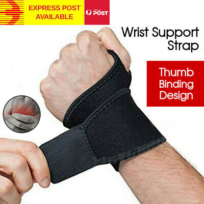 Wrist Support Pain Relief Splint Brace Protection Strap Carpel Tunnel CTS RSI AU