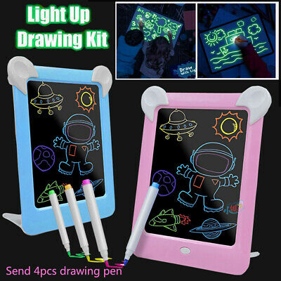 Draw With Light Fun And Developing Toys Luminous Pen Drawing Board Kids Gift AU