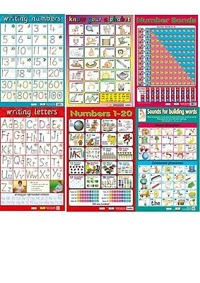 Alphabet / Letters / Phonics / Numbers - Early Learning posters - 6 SchoolCharts