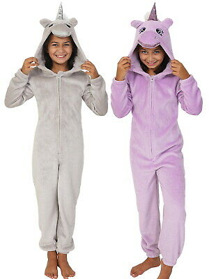 Girls Glitter Unicorn 1Onesie All In One Teens Dress Up Fleece Onezee Pyjamas Pj