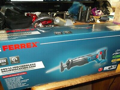 Ferrex 20V Cordless Reciprocating Saw Bare tool No battery or charger.