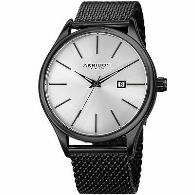 Akribos XXIV AK959 Designer Men's Watch – Classic and Casual Round Stainl... New