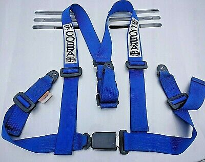 COBRA 3 POINT HARNESS BELT - BLUE  Nearly new condition.
