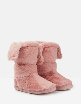 Joules AW19 Junior Girls Padabout Luxe Slipper Socks in Soft Pink