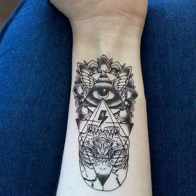 Cool Waterproof Temporary Tattoo Sticker God Eye Totem Body Art Fake Tattoos~GN