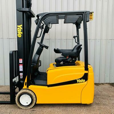 3W YALE ERP20VT. 4430mm LIFT. USED ELEC FORKLIFT TRUCK. (#2637)