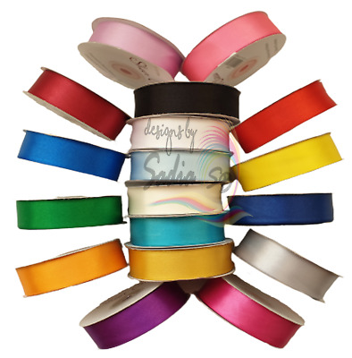 Satin Ribbon Rolls Double Sided 3mm 10mm 16mm 25mm 36mm Width Variety of Colours