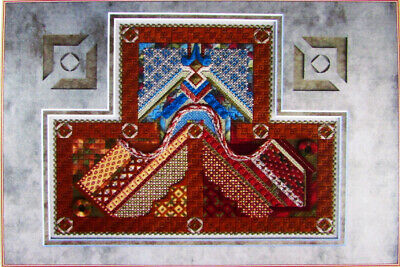 Needlepoint Pattern  Flowing Friendships/Canvas/Threads/Beads (PartCompltd)-OG10