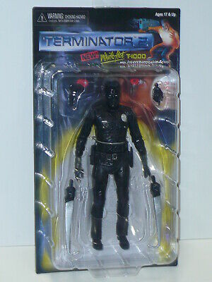 "NECA Terminator 2 Kenner Tribute WHITE HOT T-1000 7"" Scale Action Figure Movie"