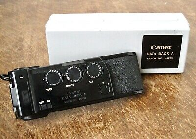 Canon Data Back A fits A-1 AE-1 etc inc Case