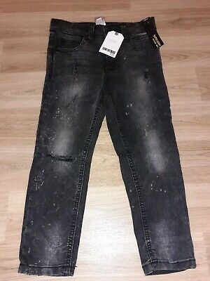 Next Boys Distressed Super Skinny Rip Knee Jeans,  Age 5, New With Tags