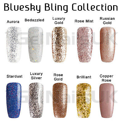 Bluesky Gel Polish BLING COLLECTION Glitter UV LED Soak Off Nail Free Postage