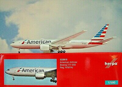 Herpa Wings 1:500 532815 american airlines ® boeing 777-200er Herpa Wings