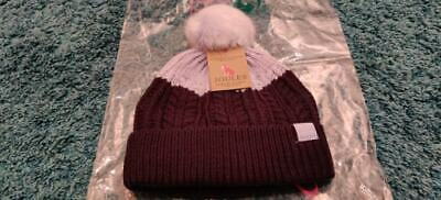 Joules Girls 4-7 Years Winter Bobble Hat *NEW, WITH TAGS, SEALED*