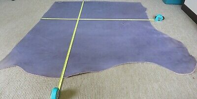 """GREY  VEG TAN  LEATHER HIDE  43"""" X 37""""   2.mm THICK  CLEARANCE"""