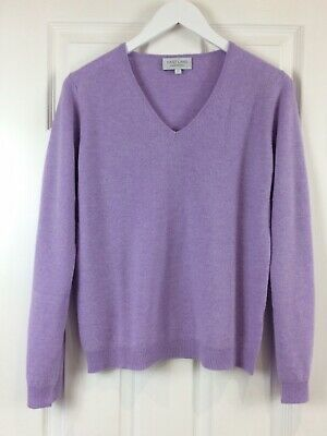 VAST LAND 100% Cashmere V Neck  Soft Lightweight  Lavendula Lovely BNWT Gift