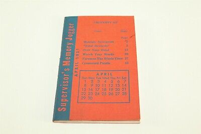Vintage 1951 Supervisors Memory Jogger Booklet 48 Pages