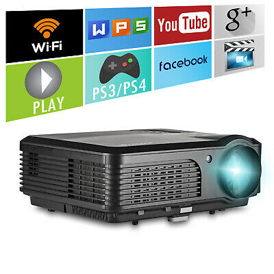 HD LED Android Projector Wifi Home Cinema Online Movie Video Youtube HDMI USB AV