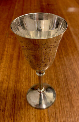 Vintage Silver Plated GOBLETS - Original Box Small Set of 6- NEVER USED