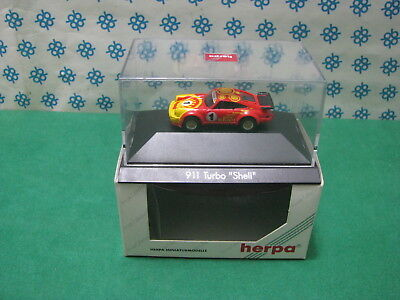 "Vintage - Porsche 911 Turbo "" Shell "" - H0 1/87 Herpa Private Collection"